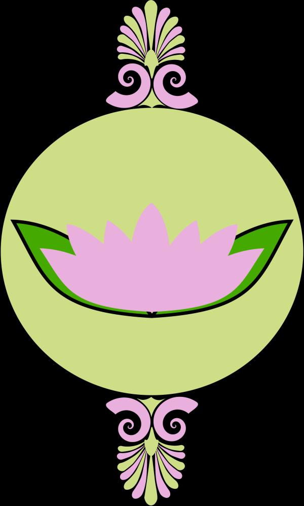 Lotus 3 Colour Blue PNG Clip art