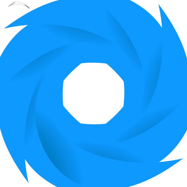Aqua Blue Paddle PNG Clip art