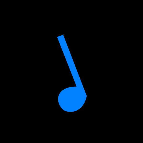 Musicblock D Blue PNG Clip art
