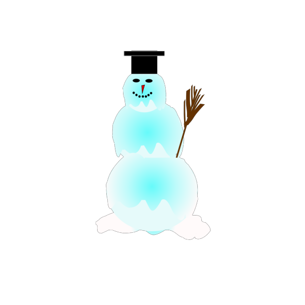 Round Snowman PNG images