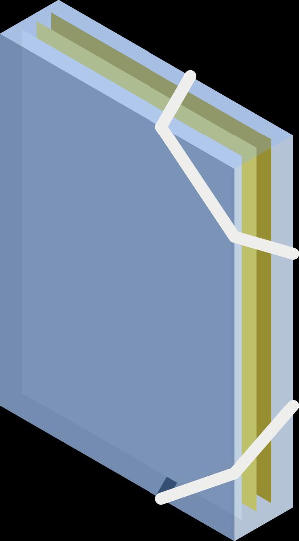 Visiting Blue Folder PNG Clip art