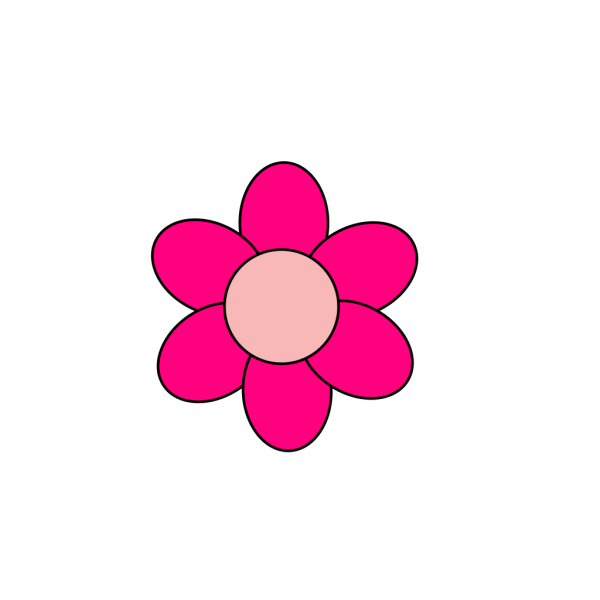 Simple Pink Flower B PNG Clip art