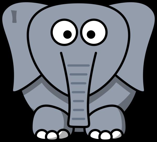 Blue Elephant PNG Clip art