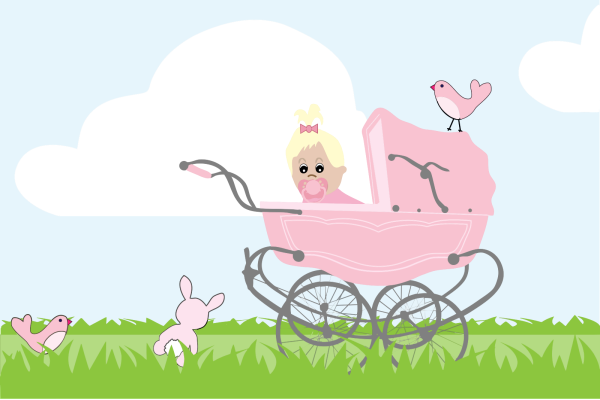 Baby Carriage Stroller PNG Clip art