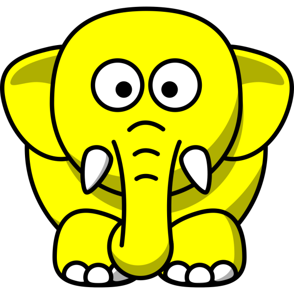Blue And Yellow Elephant PNG Clip art
