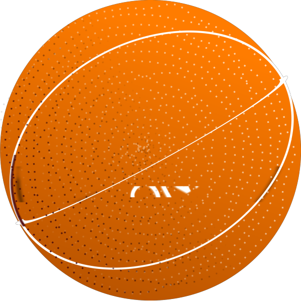 Basketball Blue Outline PNG Clip art