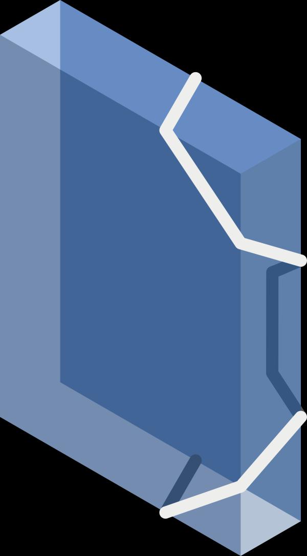 Medium Blue Folder PNG Clip art