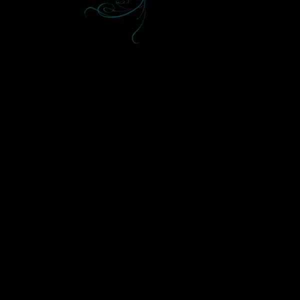 Blue Decorative Swirl PNG Clip art