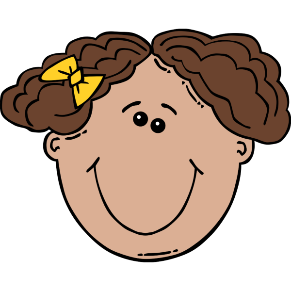 Girl Face Cartoon PNG Clip art