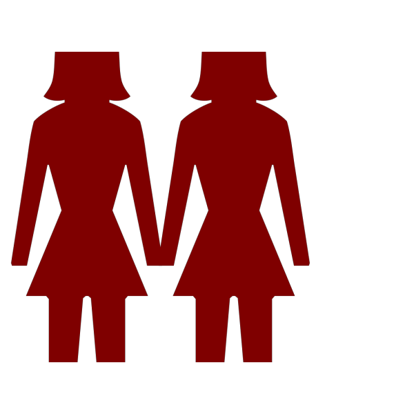 Silhouette Two Women And Men PNG Clip art