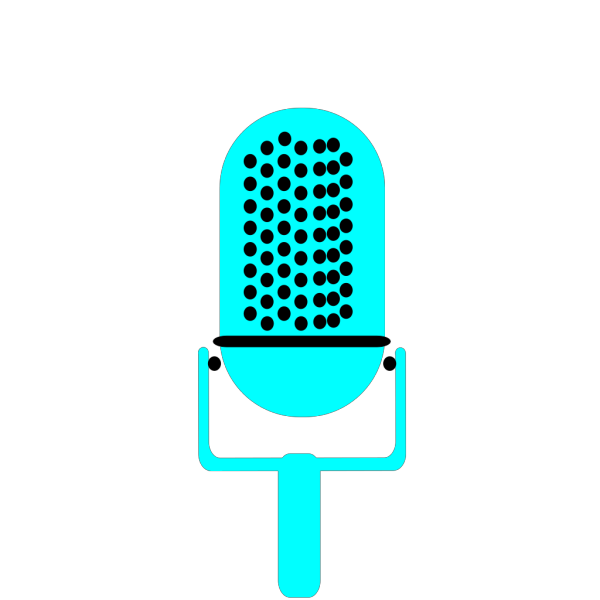 Microphone Blue PNG images