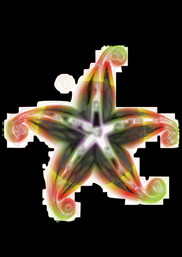 Designer Star PNG Clip art