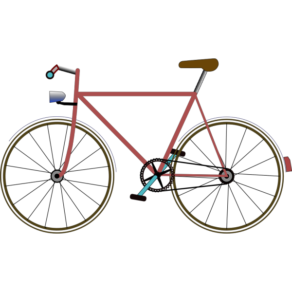 Blue Bicycle PNG Clip art