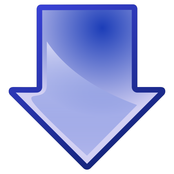 Blue Arrow PNG icon