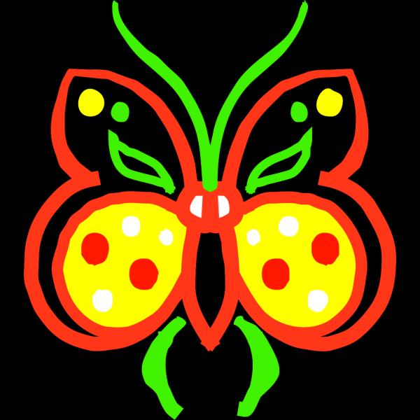 Farfalla Stilizzata PNG Clip art