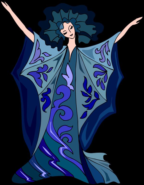 Blue Dress PNG Clip art