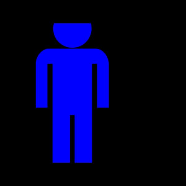 Blue Man Running  PNG Clip art