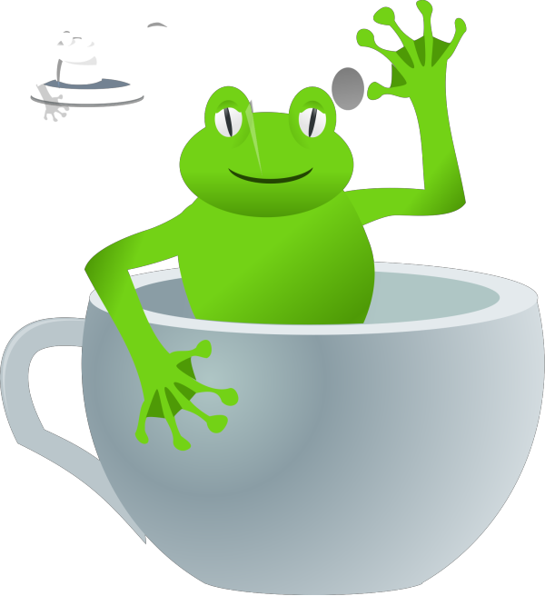 Little Blue Frog PNG Clip art
