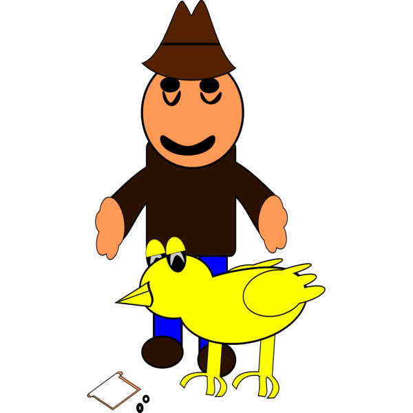 Farmer With Duck