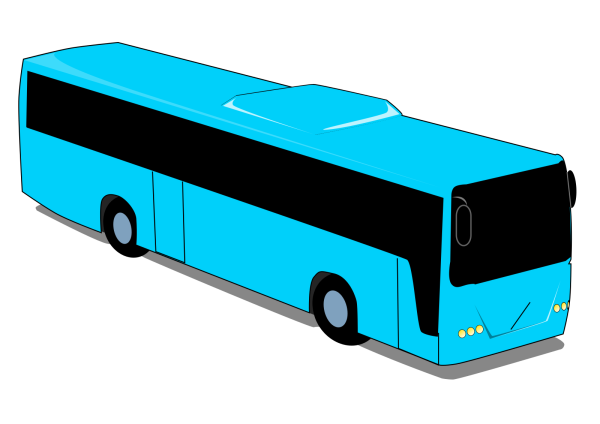 Bus Station Dark Blue 2 PNG Clip art