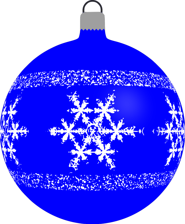 Blue Christmas Baubles Fau PNG Clip art