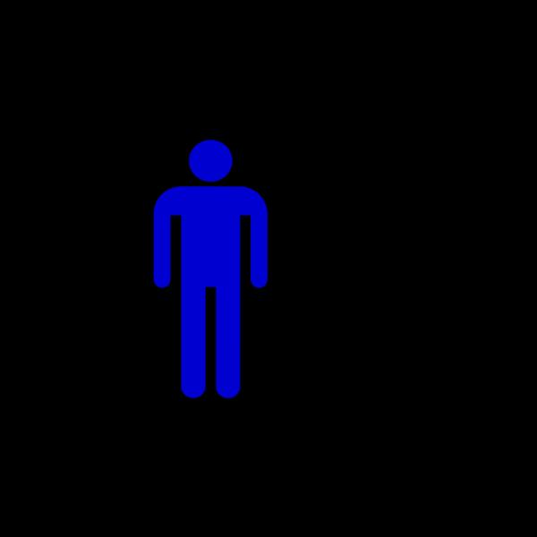 Man Silhouette Blue PNG Clip art