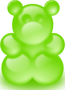 Gummy Bear Green Pa PNG Clip art