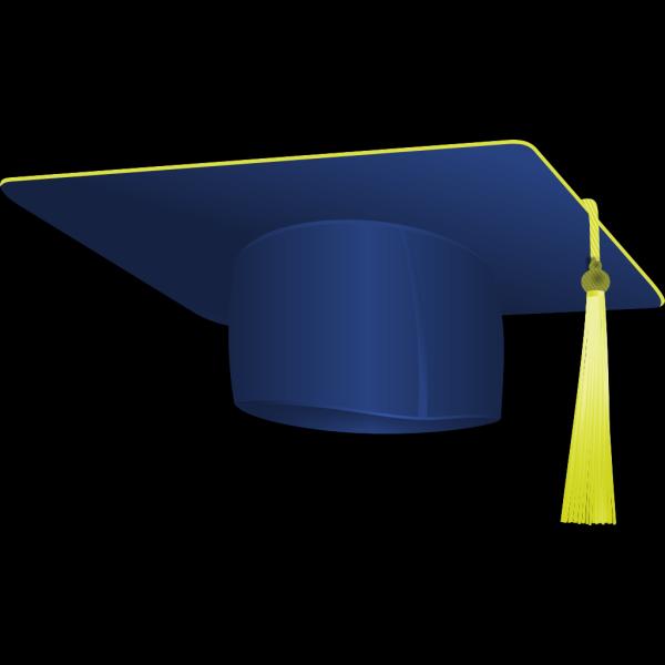 Navy Blue Graduation Cap PNG Clip art