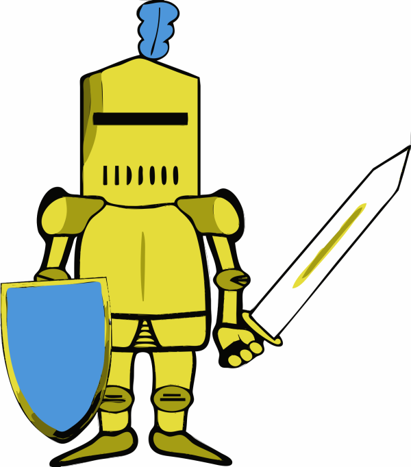 Royal Blue Sword And Shield PNG Clip art