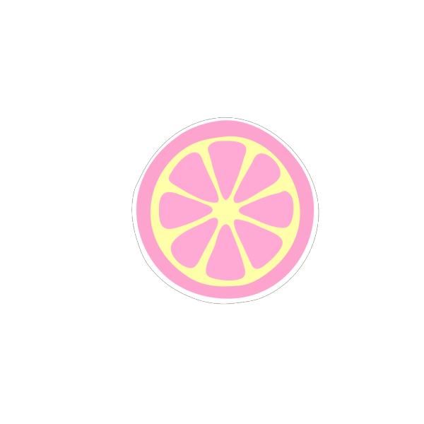 Pinky Lemonade Slice PNG images