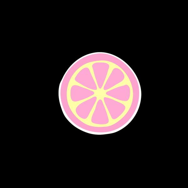 Pinky Lemonade Slice PNG Clip art