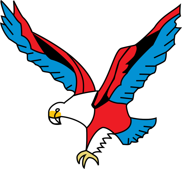 Fusion Eagle Red And Blue PNG Clip art