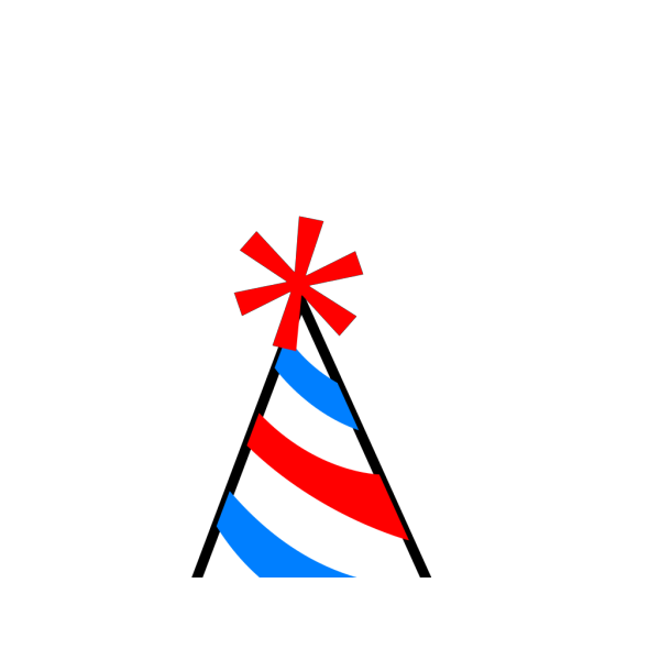 Party Hat Red Blue Yellow PNG clipart