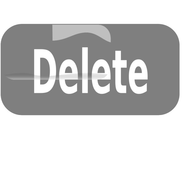 Delete Button Blue PNG icons