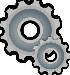 Blue Gears PNG Clip art