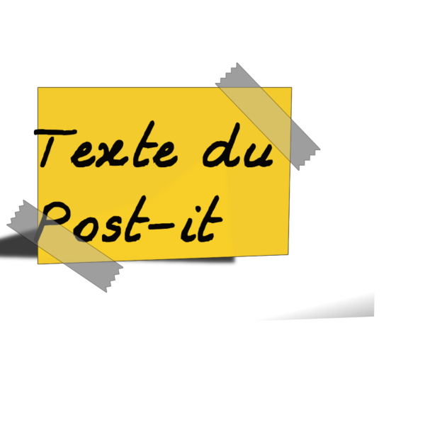 Post It Outline PNG Clip art