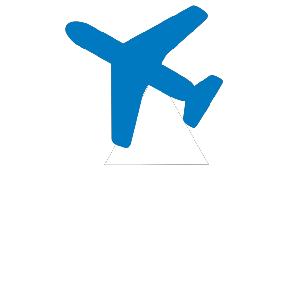 Happy Blue Airplane PNG Clip art