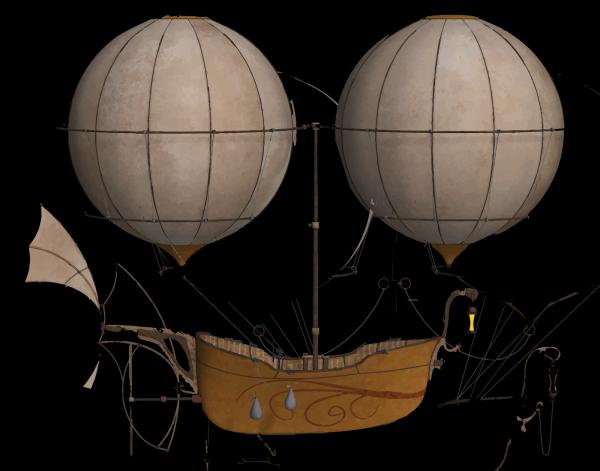 Blue Hot Air Balloon PNG Clip art