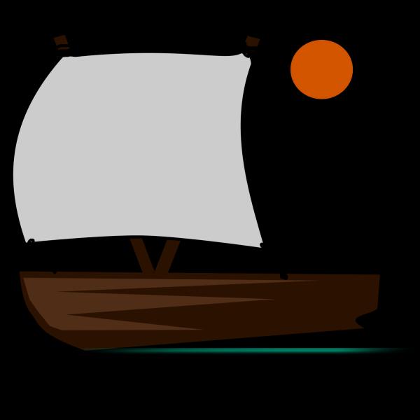 Blue Sail Boat PNG Clip art