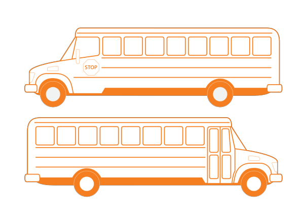Blue Bus PNG icons