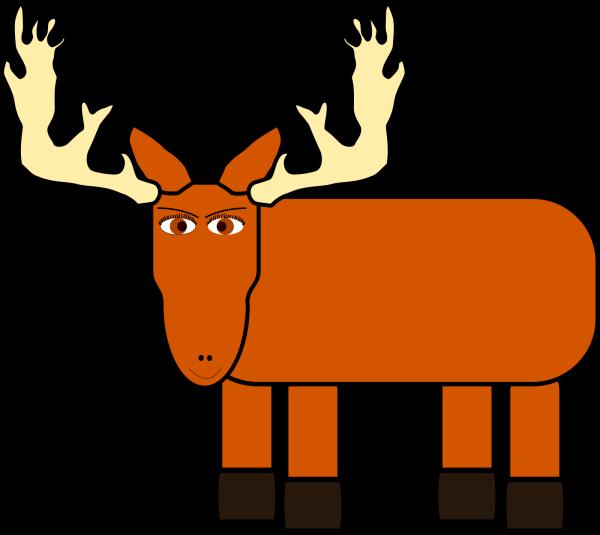 Pale Blue Moose PNG Clip art