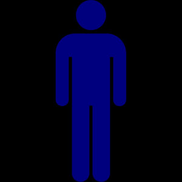 Solid Blue Man Person PNG Clip art