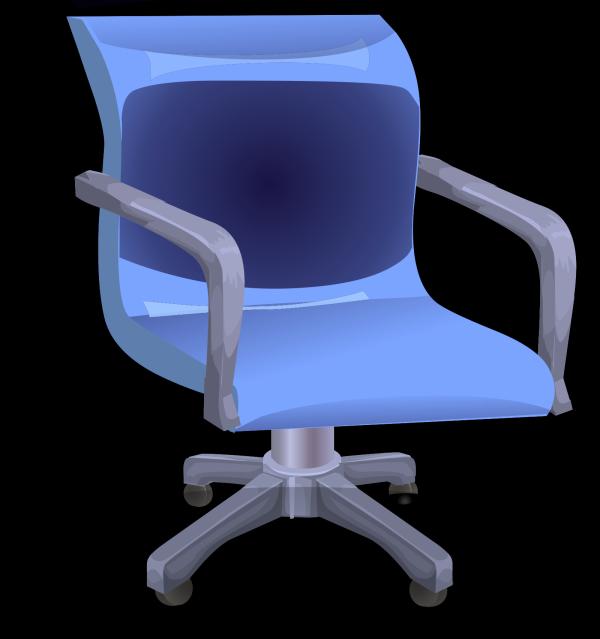 Blue Desk Chair PNG Clip art