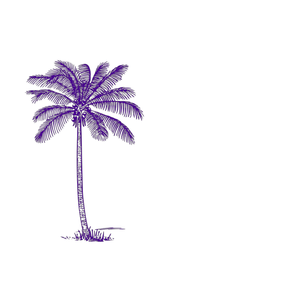 Blue Palm Tree PNG icon