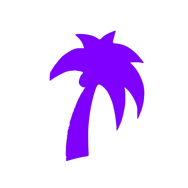 Blue Palm Tree PNG image