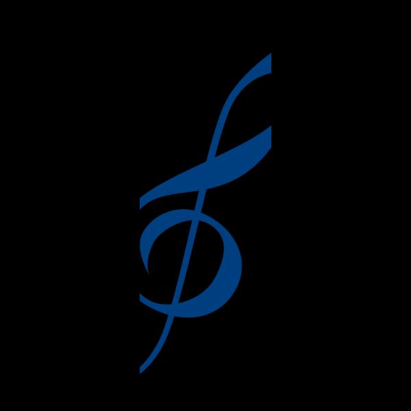Blue Treble Clef PNG Clip art