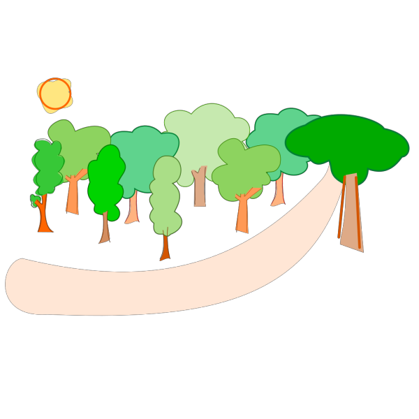 Family In The Forest PNG Clip art