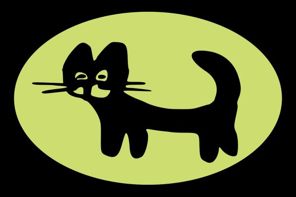 Blue Cat PNG Clip art