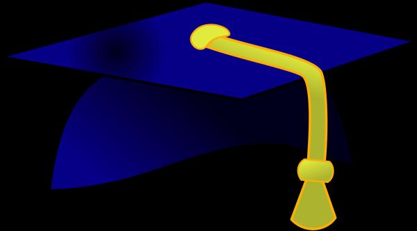 Royal Blue Graduation Cap PNG Clip art