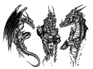 3D Dragon Tattoo Design PNG PNG clipart